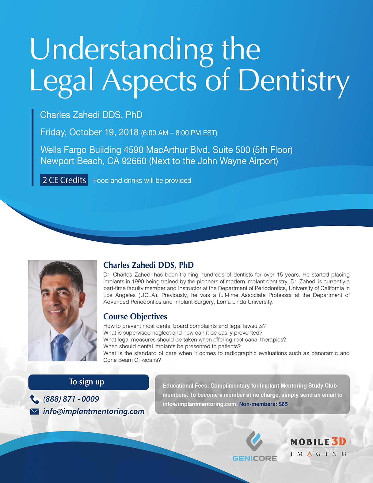 Understanding the Legal Aspects of Dentistry - October 19, 2018